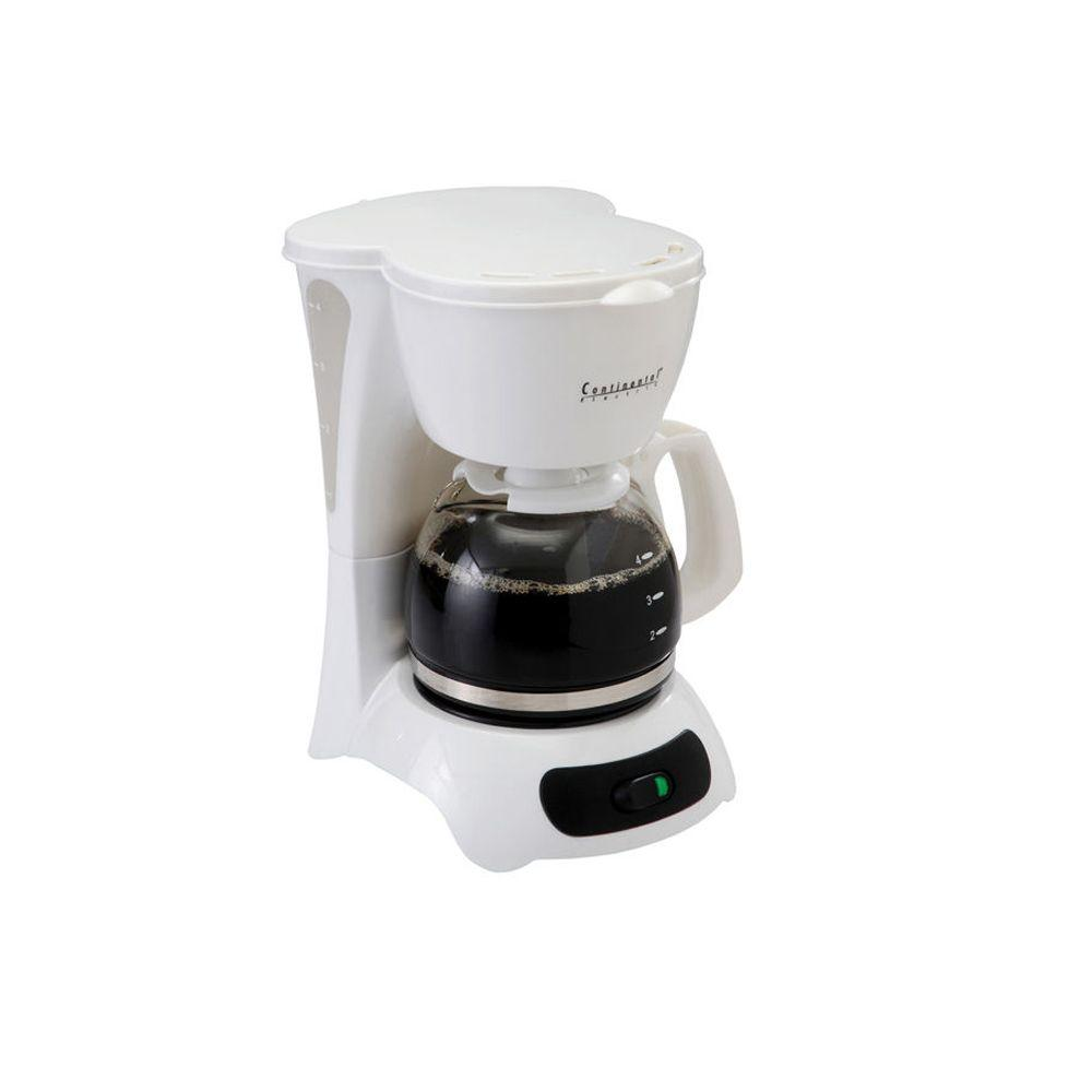 Continental Electrics 4-Cup Coffeemaker in White