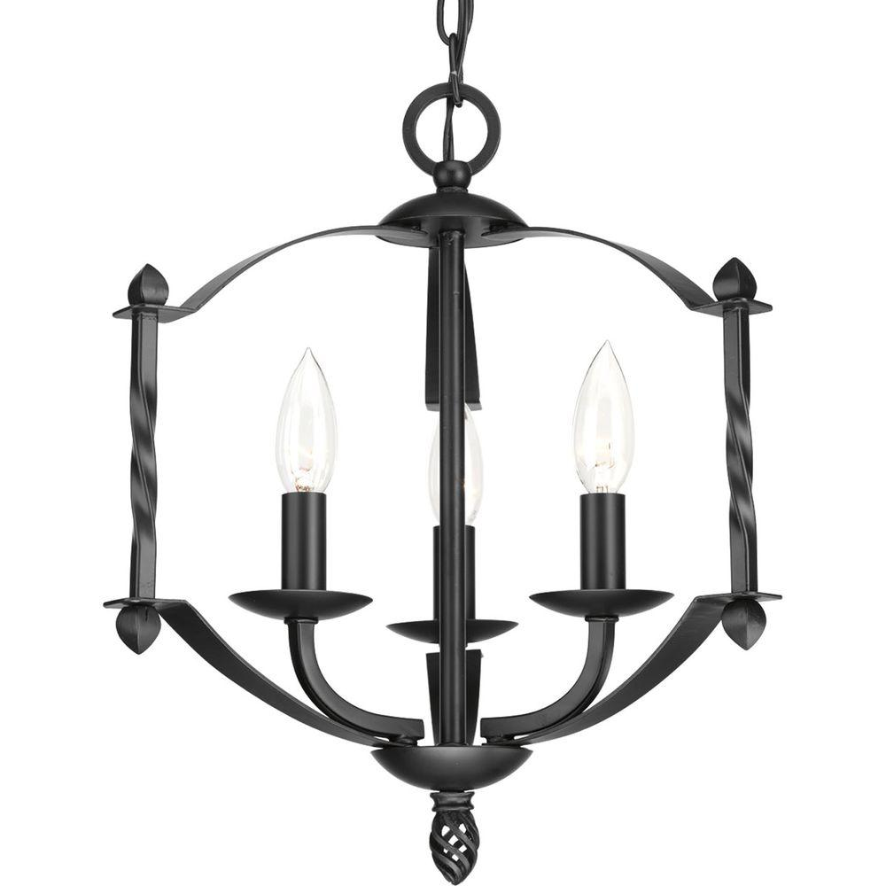 Progress lighting greyson collection 3 light black chandelier p4709 progress lighting greyson collection 3 light black chandelier aloadofball Images