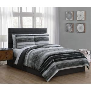 Laken 5-Piece Black Twin Bed in a Bag Set
