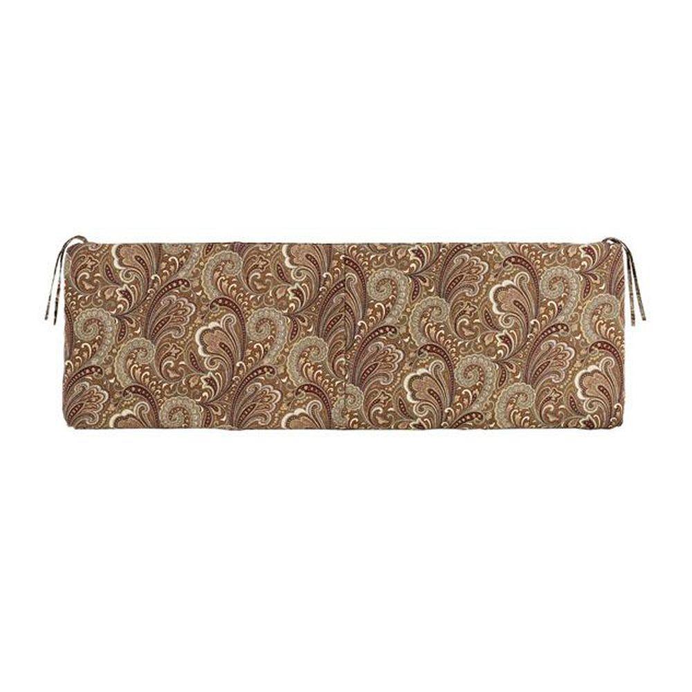 Home Decorators Collection Marona Cinnabar Polyester Indoor/Outdoor Bench Cushion
