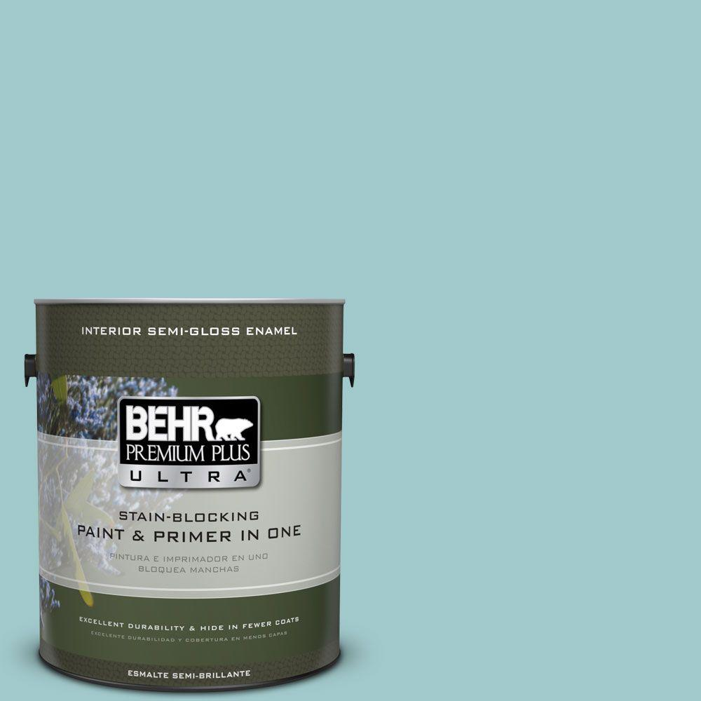 1 gal. #HDC-SP16-08 Blue Bell Semi-Gloss Enamel Interior Paint