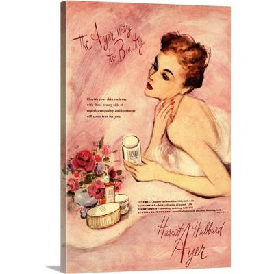 """""""Harriet Hubbard Ayer Beauty Products"""" by Advertising Archives Wall Art"""