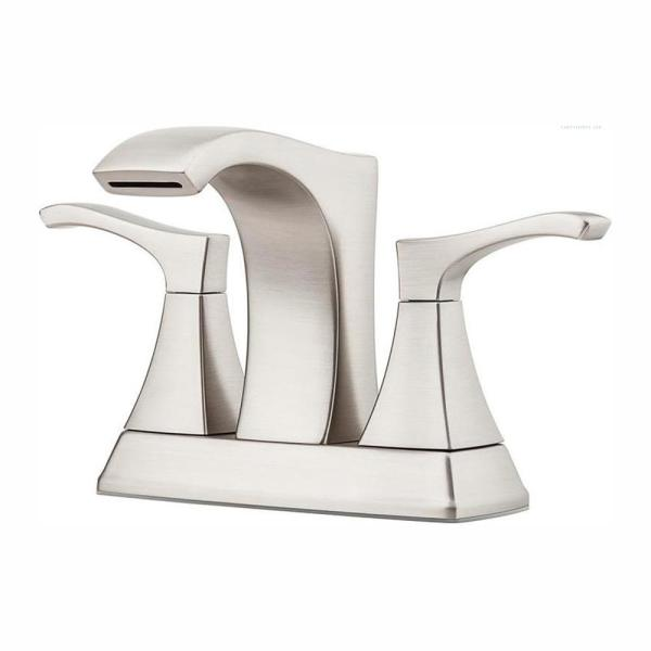 Venturi 4 in. Centerset 2-Handle Bathroom Faucet in Spot Defense Brushed Nickel