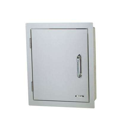 17.87 in. x 22 in. x 15 in. Vertical Single Storage Door Left Swing Double Walled