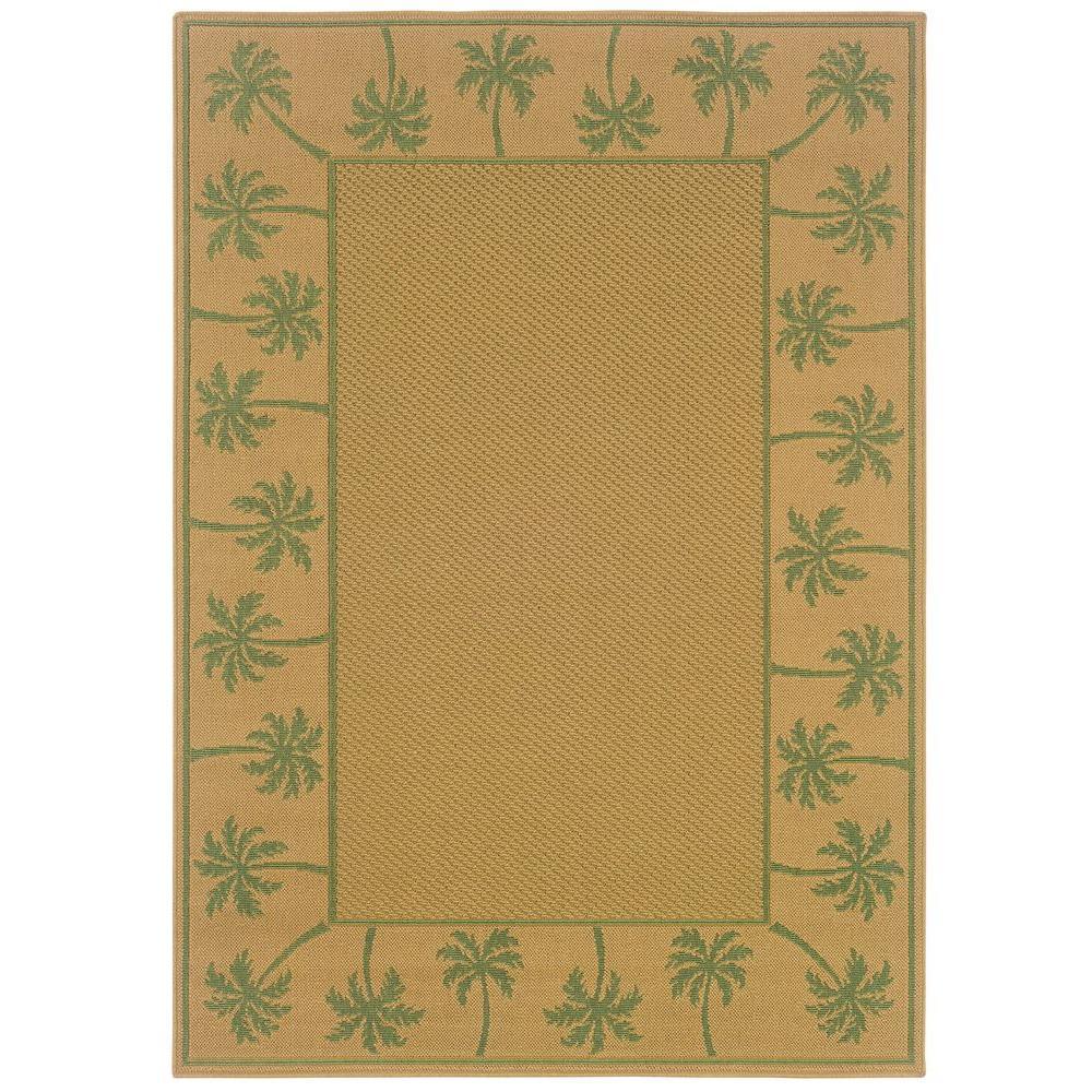 Oriental Weavers Nevis Passage Tan/Green 7 ft. 3 in. x 10...