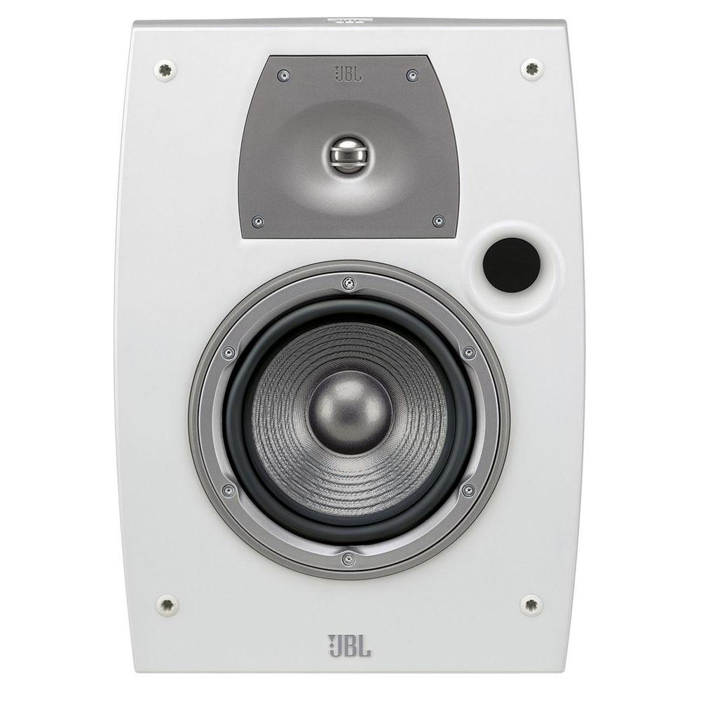 Leviton Architectural Edition Powered by JBL 100-Watt 2-Way Outdoor/All Weather Loudspeaker - White-DISCONTINUED