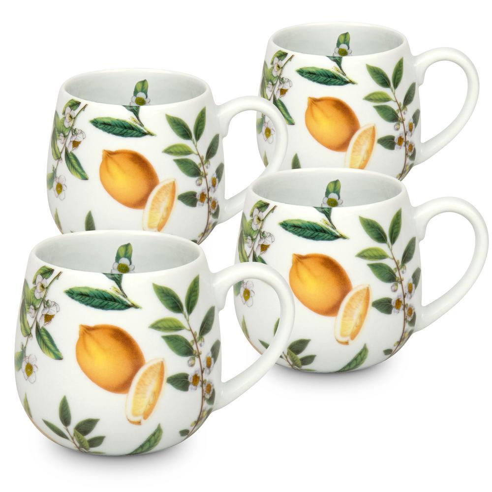 Konitz 4-Piece My Favorite Black Tea Porcelain Snuggle Mug Set