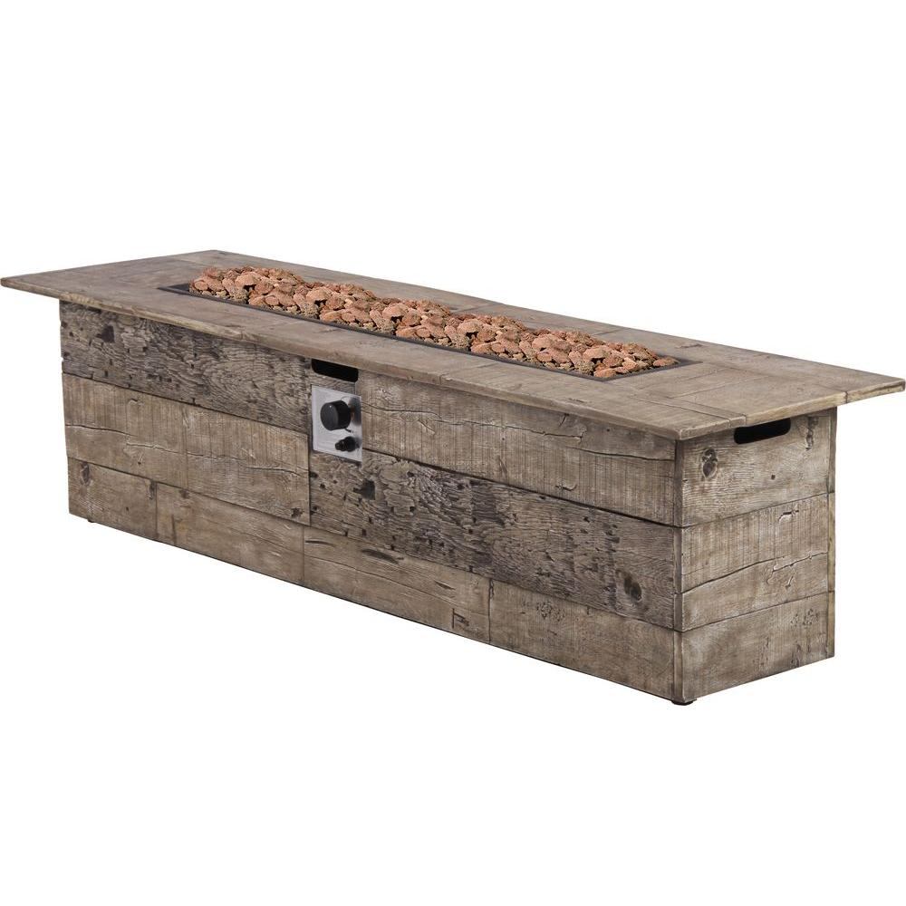 Merveilleux Bond Manufacturing Galleon 60 In. X 20 In. Rectangular Envirostone Propane  Fire Pit