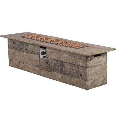 Galleon 60 in. x 20 in. Rectangular Envirostone Propane Fire Pit