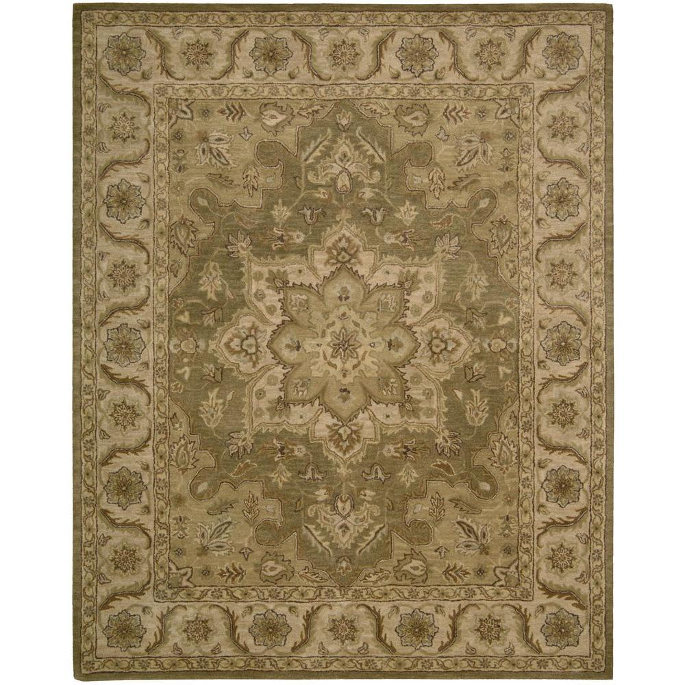 Area Rugs From India: Nourison Overstock India House Olive 5 Ft. X 8 Ft. Area