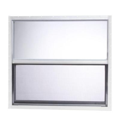 30 in. x 27 in. Mobile Home Single Hung Aluminum Window - White