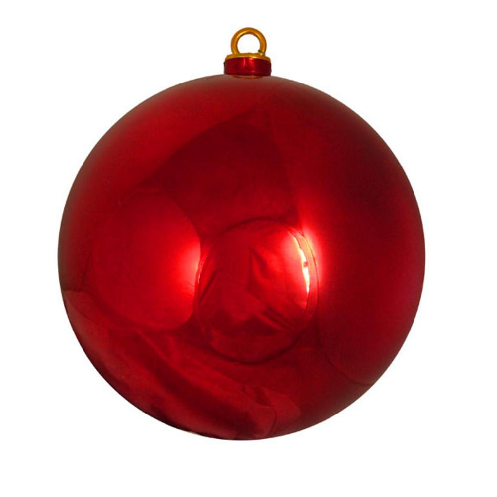 Northlight Shiny Red Hot Commercial Shatterproof Christmas Ball ...