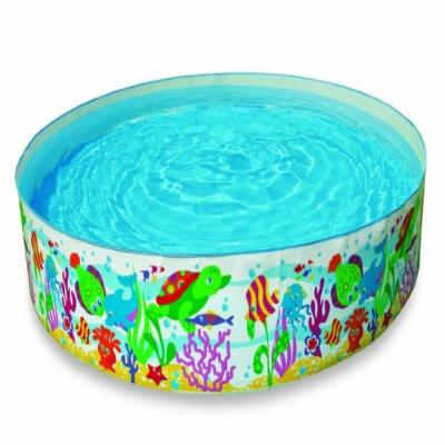 96 in. Round x 18 in. Round Ocean Reef Snapset Instant Family and Kids Summer Swimming Pool
