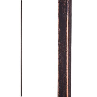 Versatile 44 in. x 0.5 in. Oil Rubbed Bronze Plain Square Bar Hollow Wrought Iron Baluster