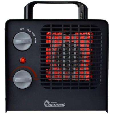 Family Red 1,500-Watt Ceramic Space Heater with Adjustable Thermostat