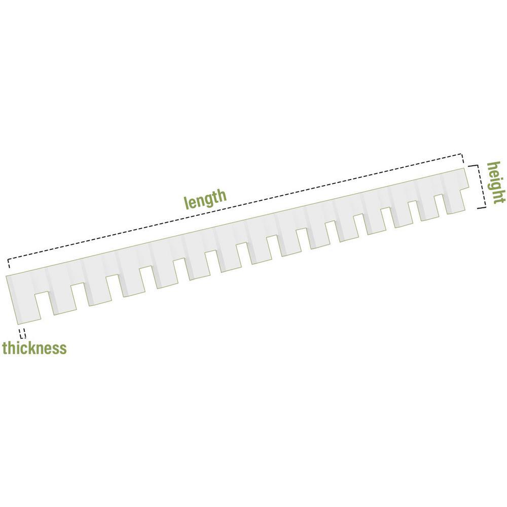 3H x 1P x 94L Ekena Millwork DENP03SAN01 Sanford Architectural Grade w//Backplate PVC Dentil Trim White