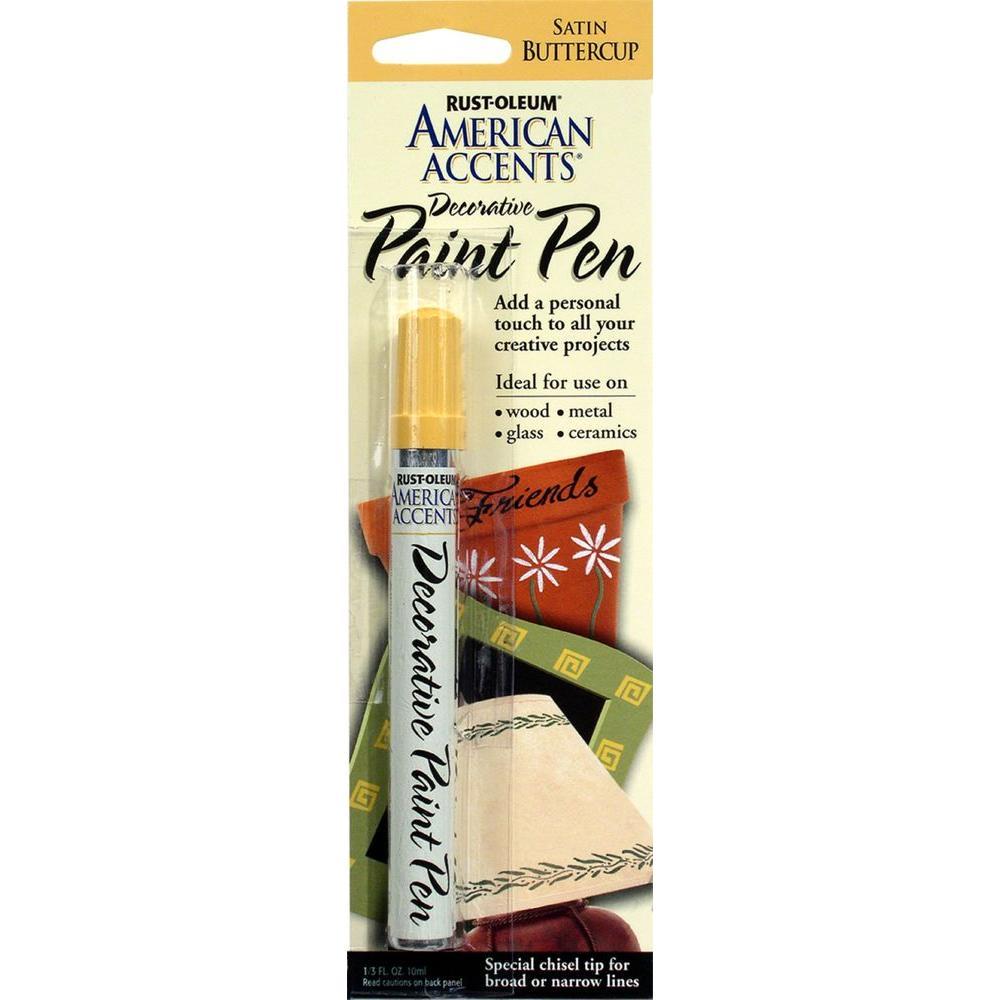 Rust-Oleum American Accents Satin Buttercup Decorative Paint Pen (6-Pack)