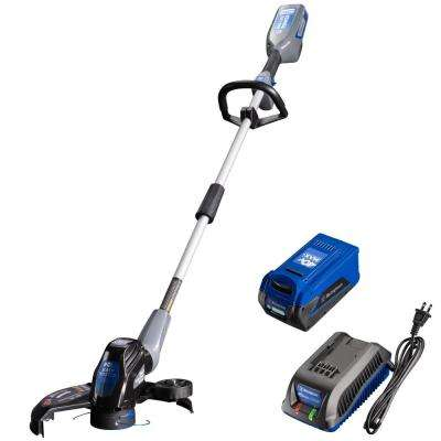 40V String Trimmer with 4.0 Ah Battery and Battery Charger