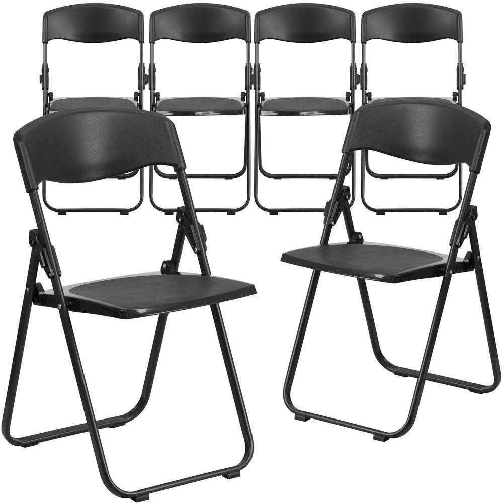 Mity Lite Oversized Black Metal Folding Chair Set Of 4