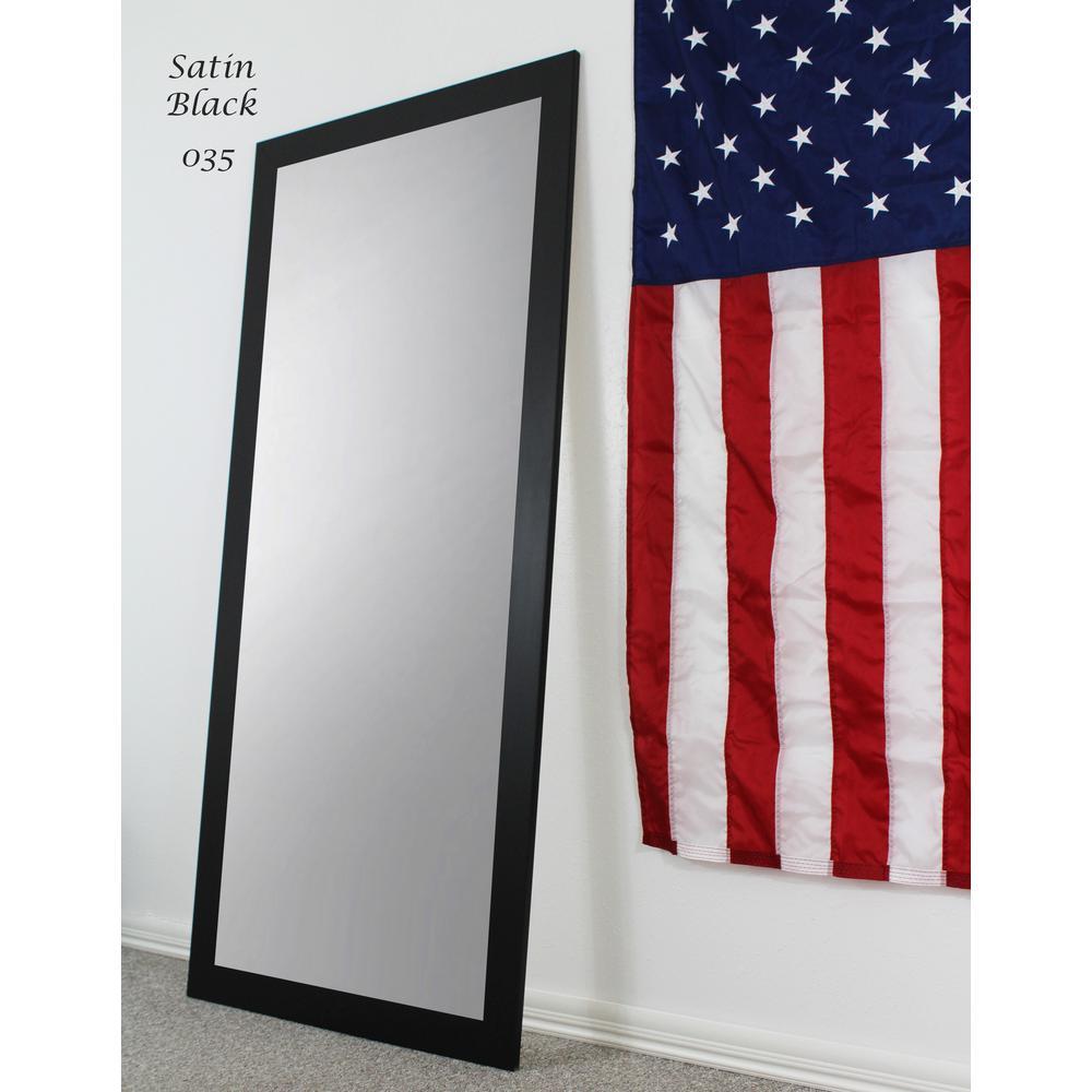 63.5 in. x 25.5 in. Satin Black Full Body and Floor Length Vanity Mirror