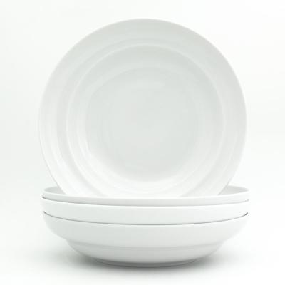 Essential 9 in. White Pasta Bowl Set (4-Piece)