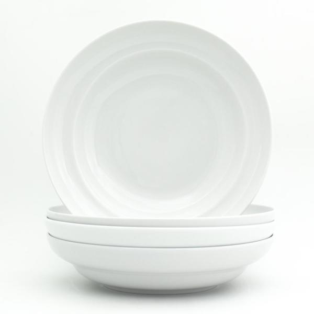 Essential 9 in. White Pasta Bowl Set (4-Piece)