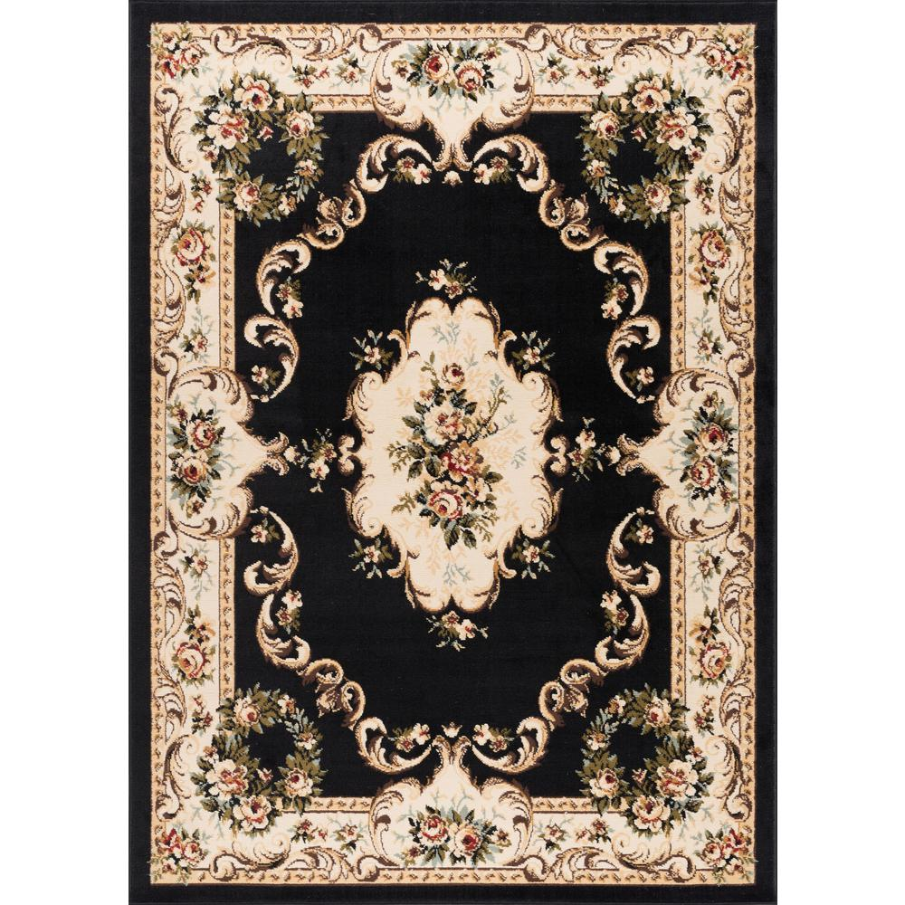 tayse rugs laguna charcoal 5 ft x 7 ft traditional area rug 4613 charcoal 5x7 the home depot. Black Bedroom Furniture Sets. Home Design Ideas