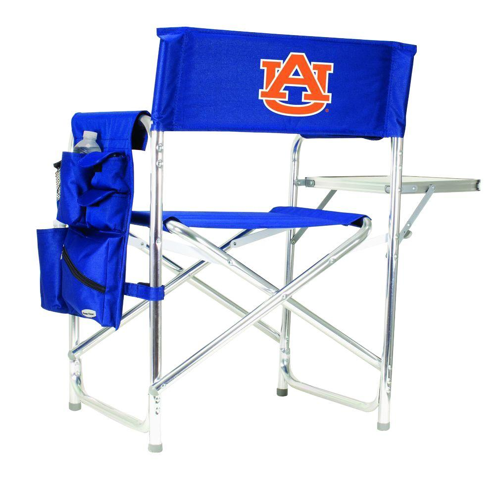 Picnic Time Auburn University Navy Sports Chair with Embroidered Logo