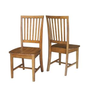 Internet #300375976. Distressed Pecan Wood Mission Dining Chair ...
