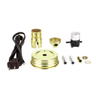 Brass Mason Jar Lamp Push Through Socket Kit (1-Pack)