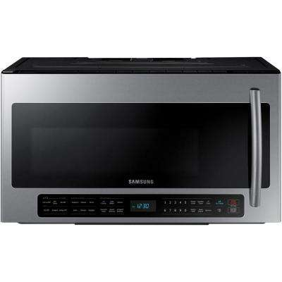 30 in. 2.1 cu. ft. Over the Range Microwave in Stainless Steel with Sensor Cooking and Ceramic Enamel Interior