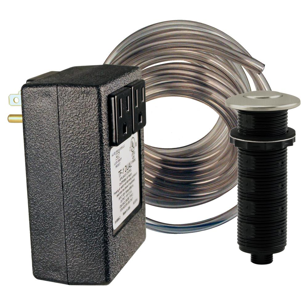 Westbrass Garbage Disposal Air Switch in Stainless Steel