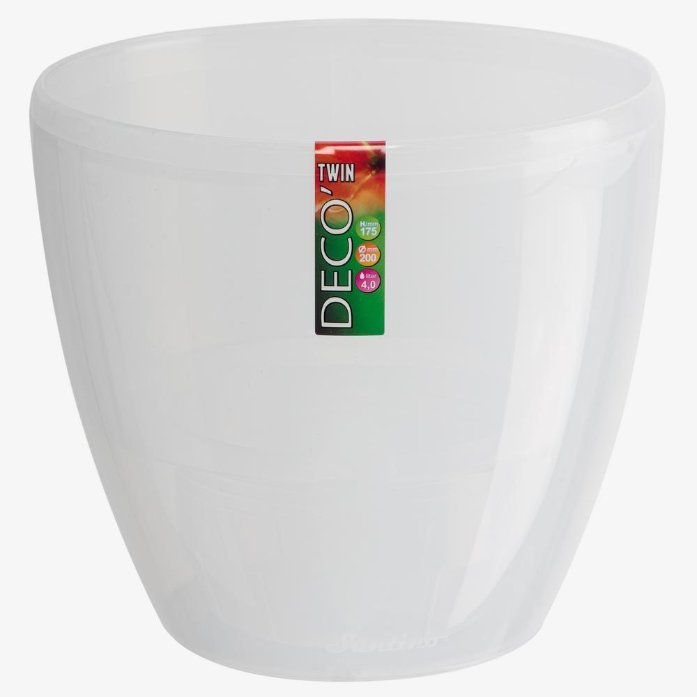 DECO 6.7 in. Transparent Plastic Self Watering Planter