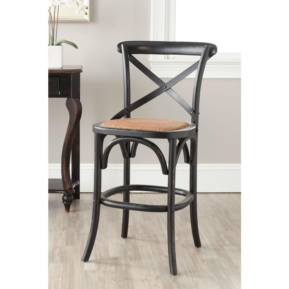 Safavieh Franklin 244 In Weathered Oak Bar Stool Amh9504c The
