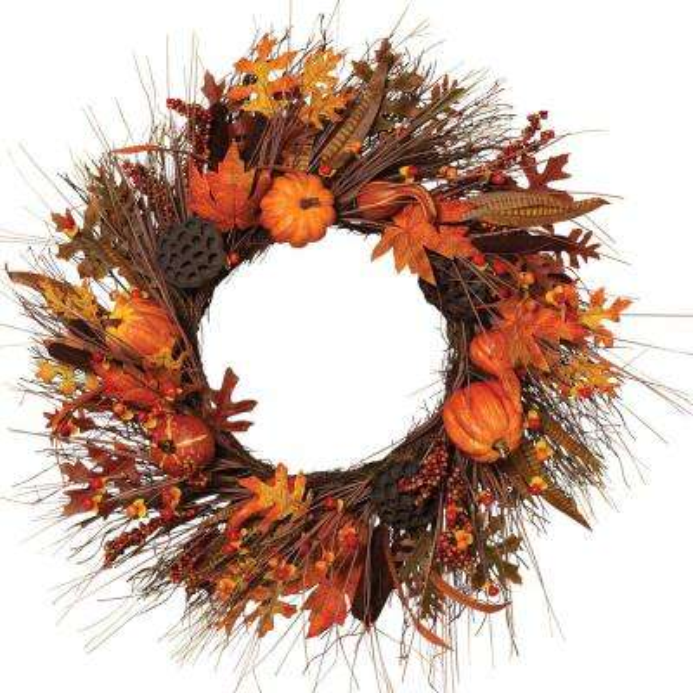 30 in. Autumn Fields Wreath