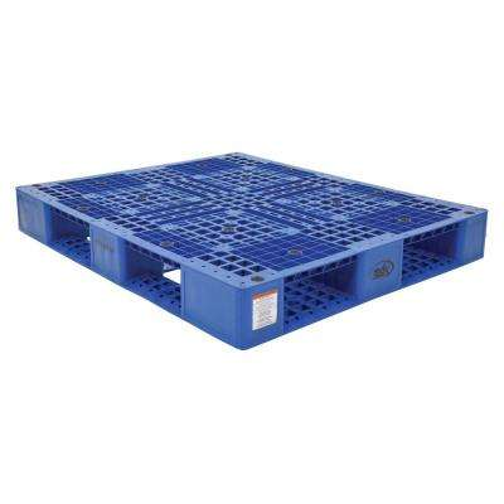 48 in. x 40 in. x 6 in. Blue Plastic Pallet/Skid
