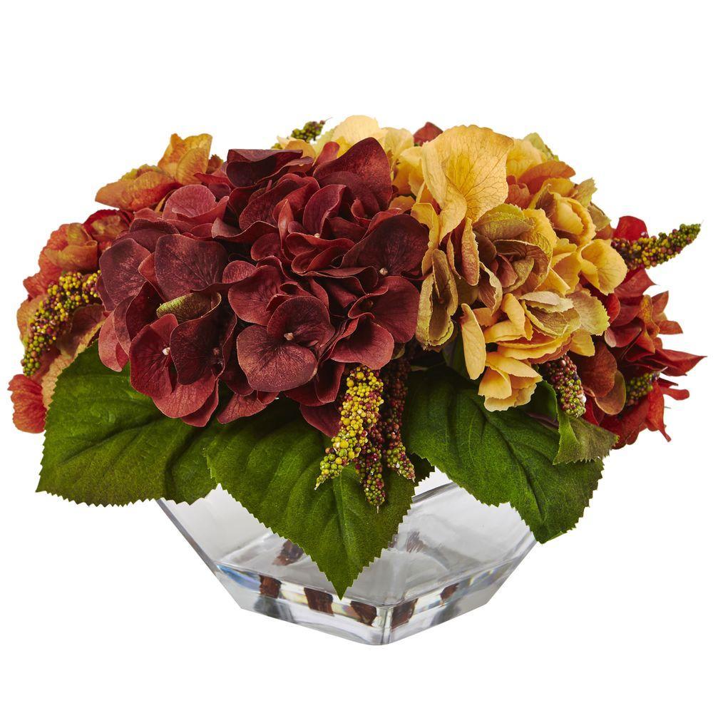 10 in. Autumn Hydrangea Berry with Vase