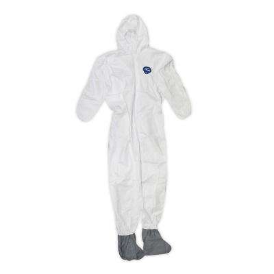 DuPont 3X Large White Coverall with Hood and Boots