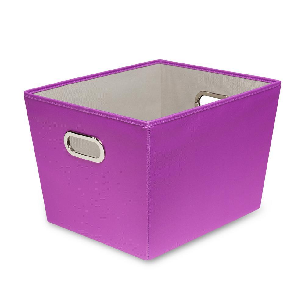 15.75 in. x 10.8 in. Purple Canvas Bin