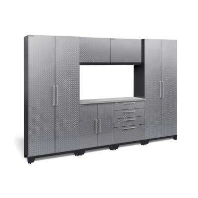 Performance Diamond Plate 2.0 72 in. H x 108 in. W x 18 in. D Garage Cabinet Set in Silver (7-Piece)