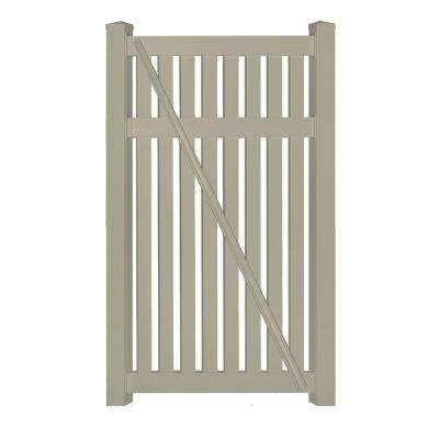 h khaki vinyl pool fence gate