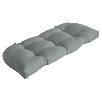 Rectangle Outdoor Wicker Settee Cushion in Stone Leala Texture