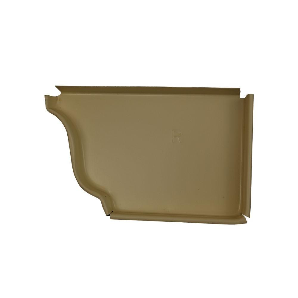 Amerimax Home Products 5 in. Heritage Cream Aluminum Right End Cap