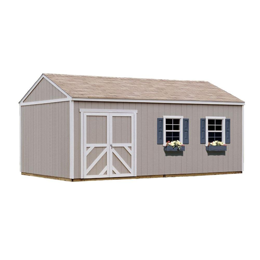 Handy Home Products Columbia 12 ft. x 20 ft. Wood Storage Building ...