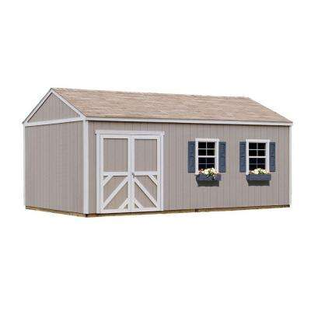Columbia 12 ft. x 20 ft. Wood Storage Building Kit