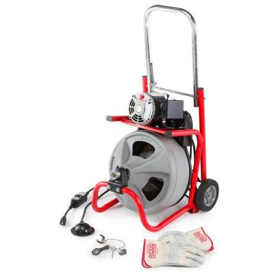 115-Volt K-400 Drain Cleaning Drum Machine with C-32 3/8 in. Integral Wound Cable and Tool Set