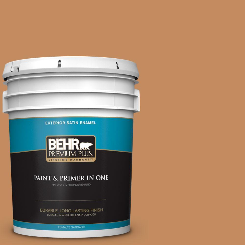 5 gal. #PPU3-13 Glazed Ginger Satin Enamel Exterior Paint