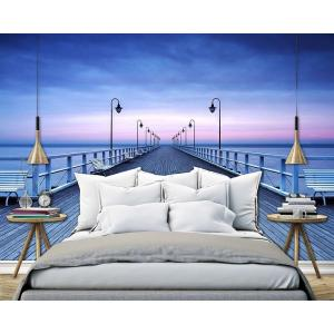 Charming H Pier At The Seaside Wall Mural · Ideal Decor ... Part 15