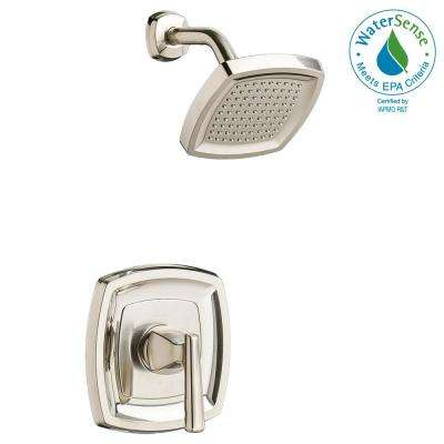 Edgemere 1-Handle Tub and Shower Faucet Trim Kit in Brushed Nickel (Valve Not Included)