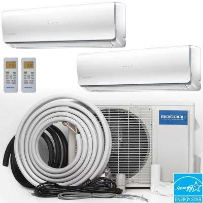 Olympus 28000 BTU Ductless Mini-Split Air Conditioner with Heat Pump and 25 ft. Install Kit - 230-Volt